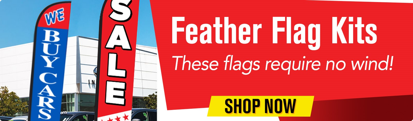 Feather Flag Kits - These flags require no wind!