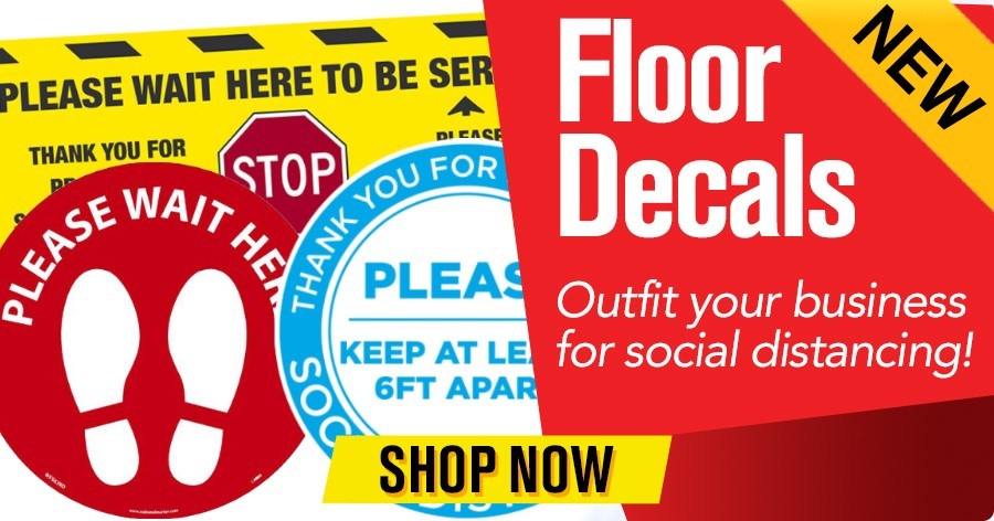 Floor Decals - Outfit your business for social distancing!