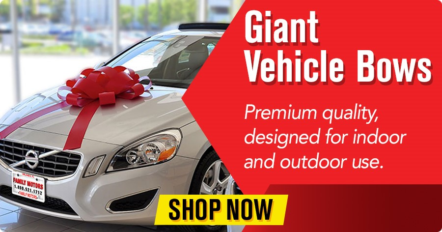 Giant Vehicle Bows - premium quality, designed for indoor and outdoor use.