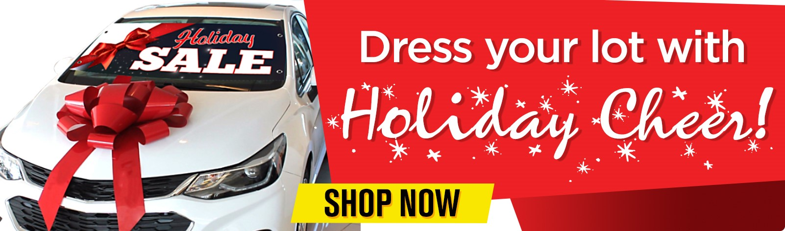 Dress your car dealership's lot with holiday cheer!