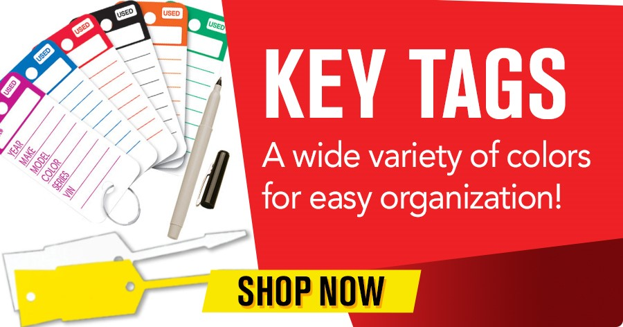 Key Tags - A wide variety of colors for easy organization!