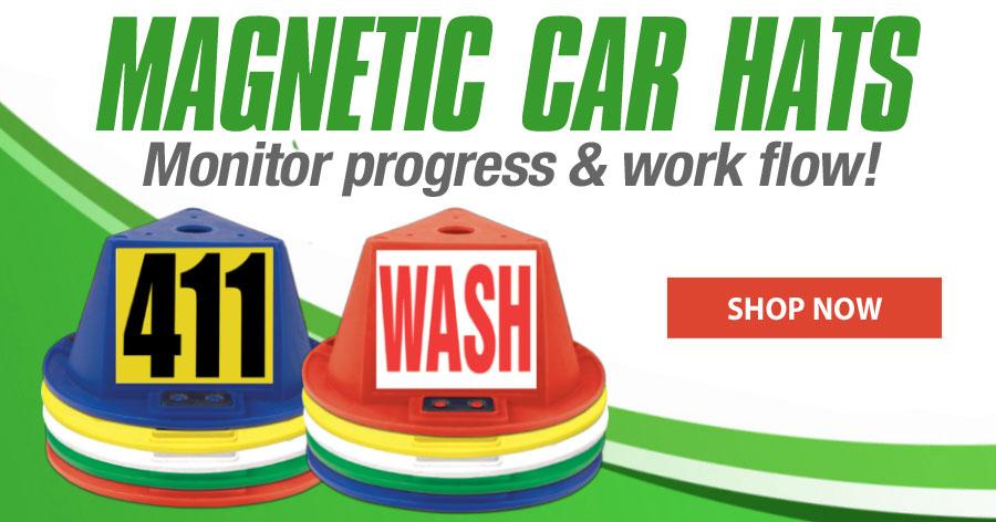 Magnetic Car Hats - Monitor progress & work flow!