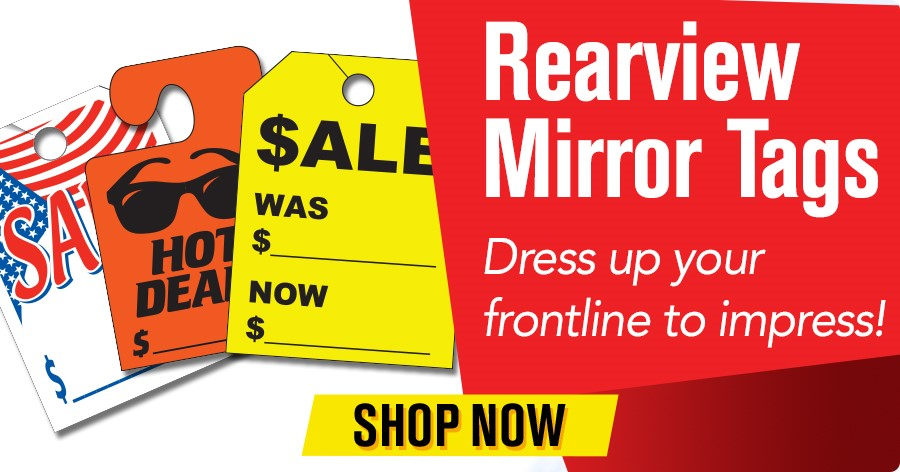 Rearview Mirror Tags - Dress up your frontline to impress!