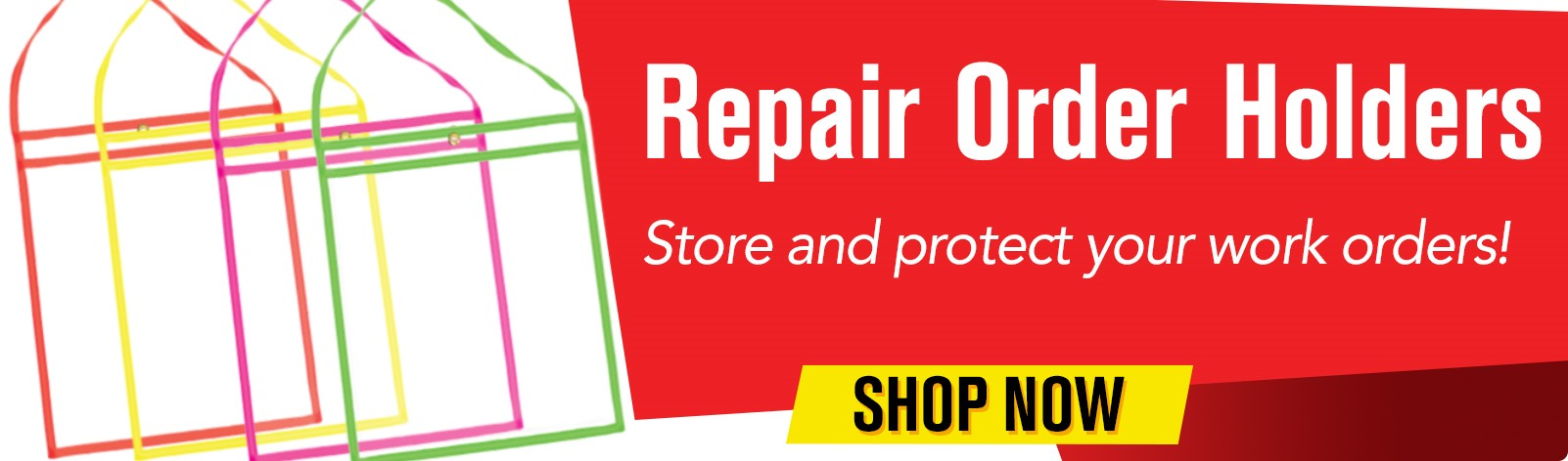Repair Order Holders - Store and protect your work orders!