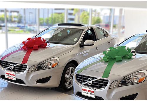 car dealer magnetic car bow