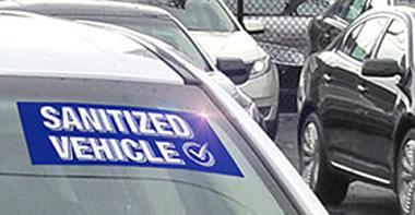 sanitized auto window sticker