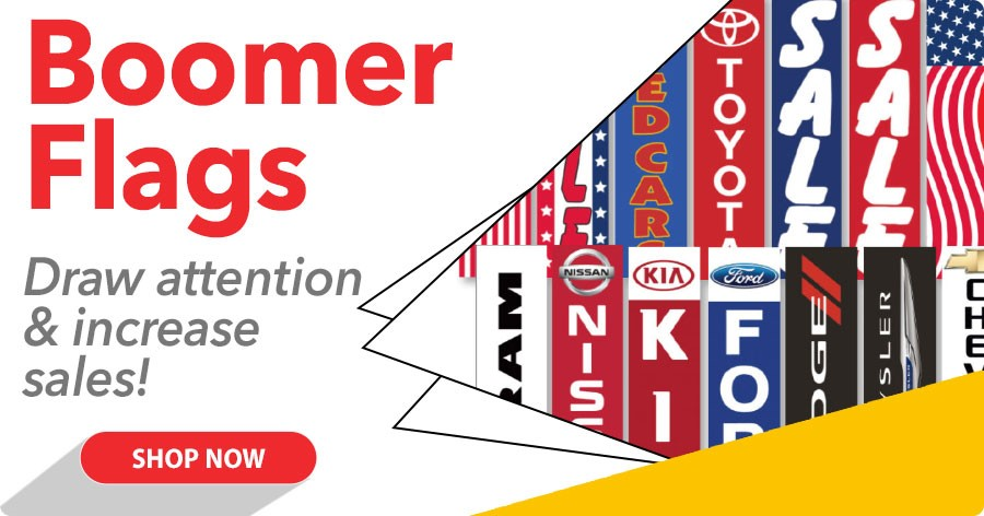 Boomer Flags - Draw attention & increase sales!