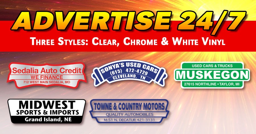 Advertise 24/7 with Custom Imprinted Vehicle Decals!