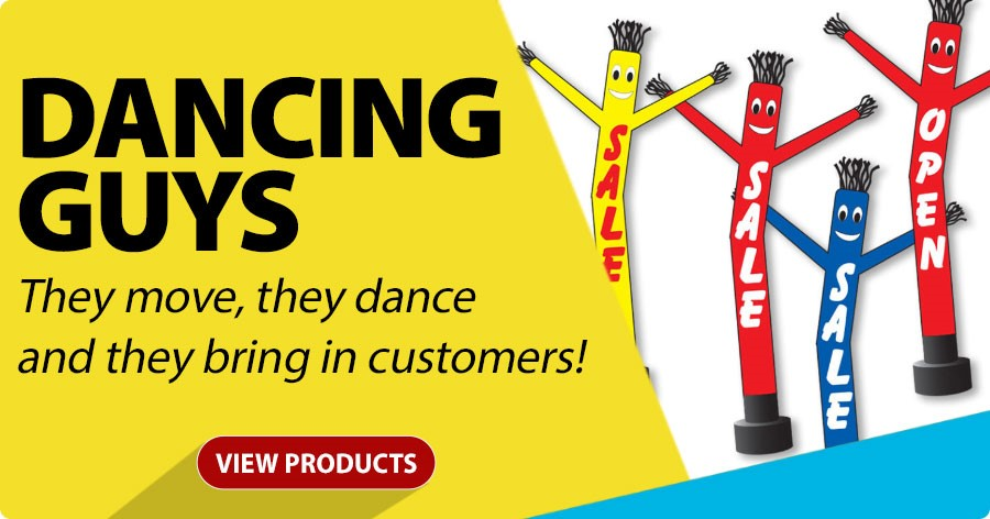 Dancing Guys - They move, they dance and they bring in customers!