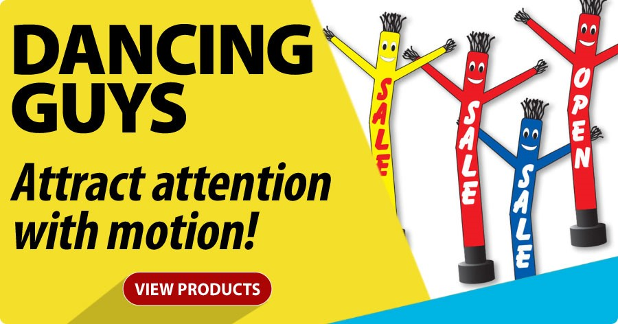 Dancing Guys - Attract attention with motion!