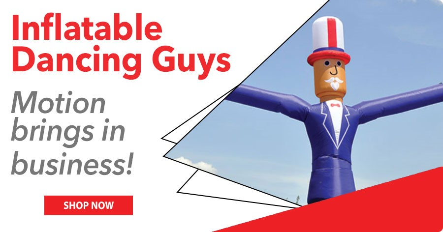 Inflatable Dancing Guys - Motion brings in business for your dealership!