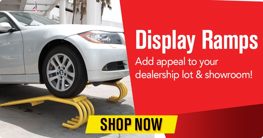 Display Ramps - Add appeal to your dealership lot & showroom!
