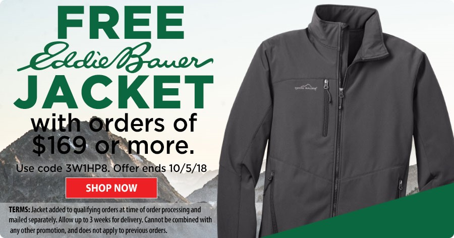 FREE Eddie Bauer Jacket with orders of $169 or more! Shop Now!