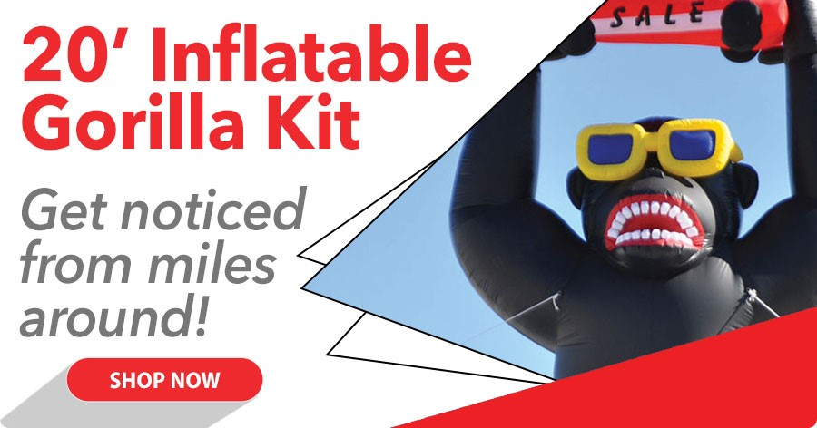 Inflatable Gorilla Kit - Get noticed from miles around!