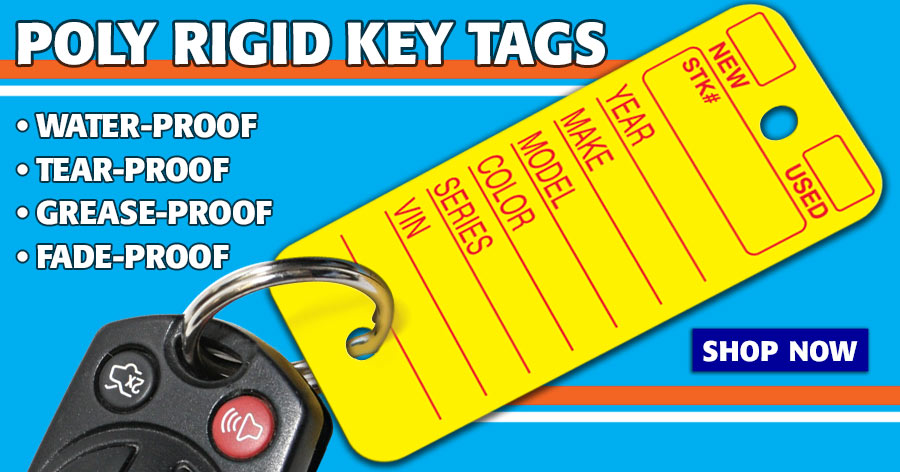Keep vehicle keys organized with these Poly Rigid Key Tags!