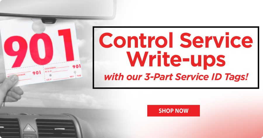 Control service write-ups with our 3-Part Service ID Tags!