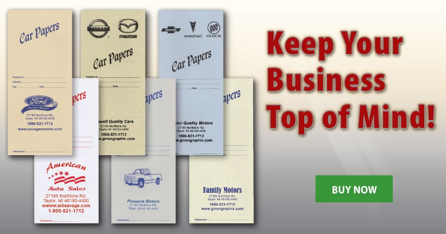 Keep Your Business Top of Mind with our Slim Document Folders!