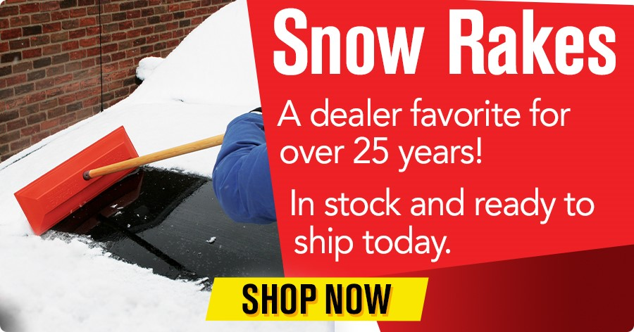 Snow Rakes - In stock and ready to ship today!