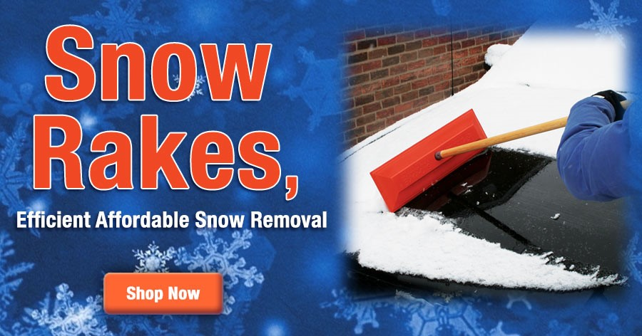 Snow Rake provides efficient & affordable snow removal!