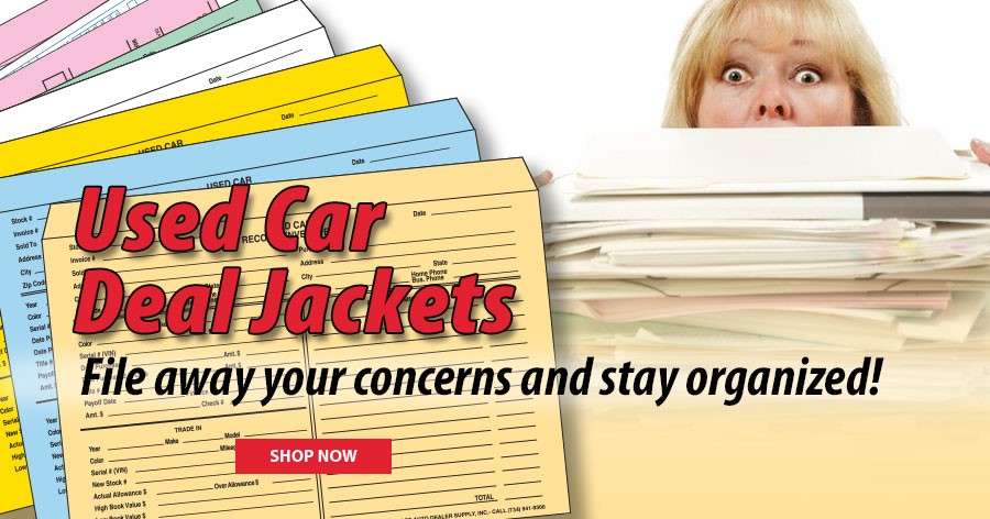 Stay organized with our Used Car Deal Jackets!