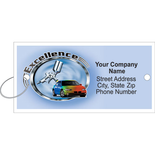 Personalized Full-Color Key Tags - Excellence
