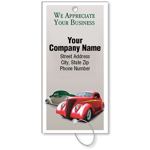Personalized Full-Color Key Tags - Classic Cars II