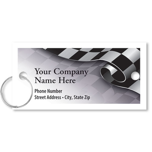 Personalized Full-Color Key Tags - Rolling Finish