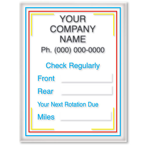 Small Static Cling Service Reminders - Check Regularly