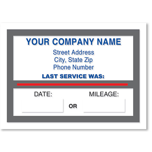 Jumbo Static Cling Service Reminders - Last Service Was