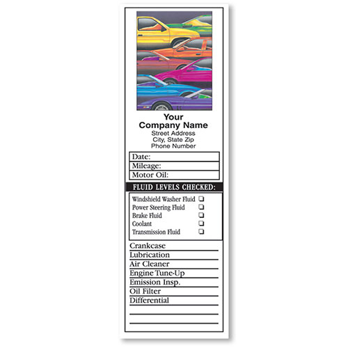 Door-Jamb Service Stickers - Colorful Cars