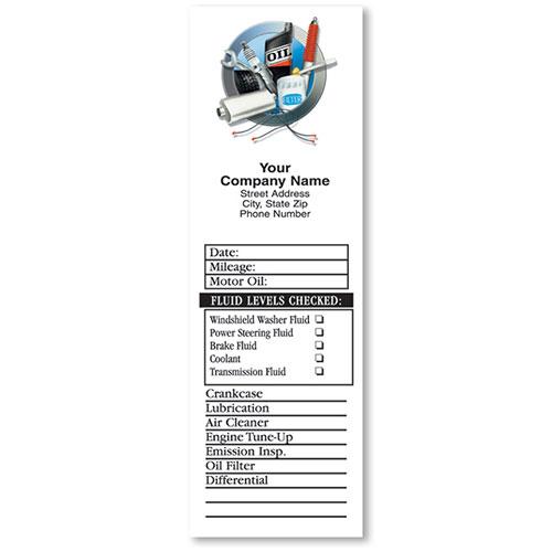Door-Jamb Service Stickers - Auto Supplies