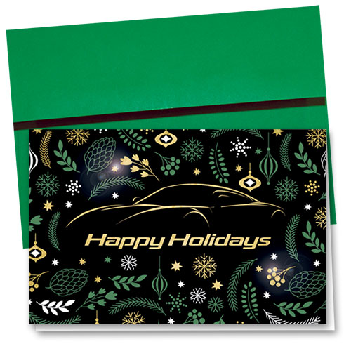 Personalized Premium Foil Holiday Cards - Art Deco Greeting