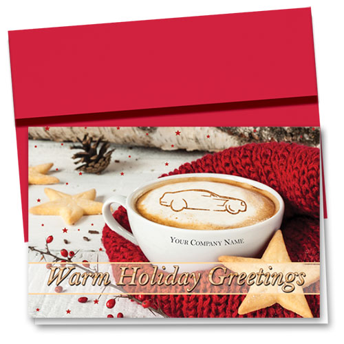 Double Personalized Full Color Holiday Card-Holiday Warmth