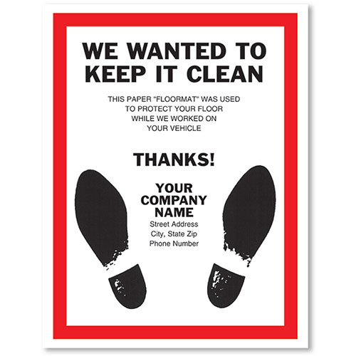 Personalized Large Vertical Floormat - Keep It Clean