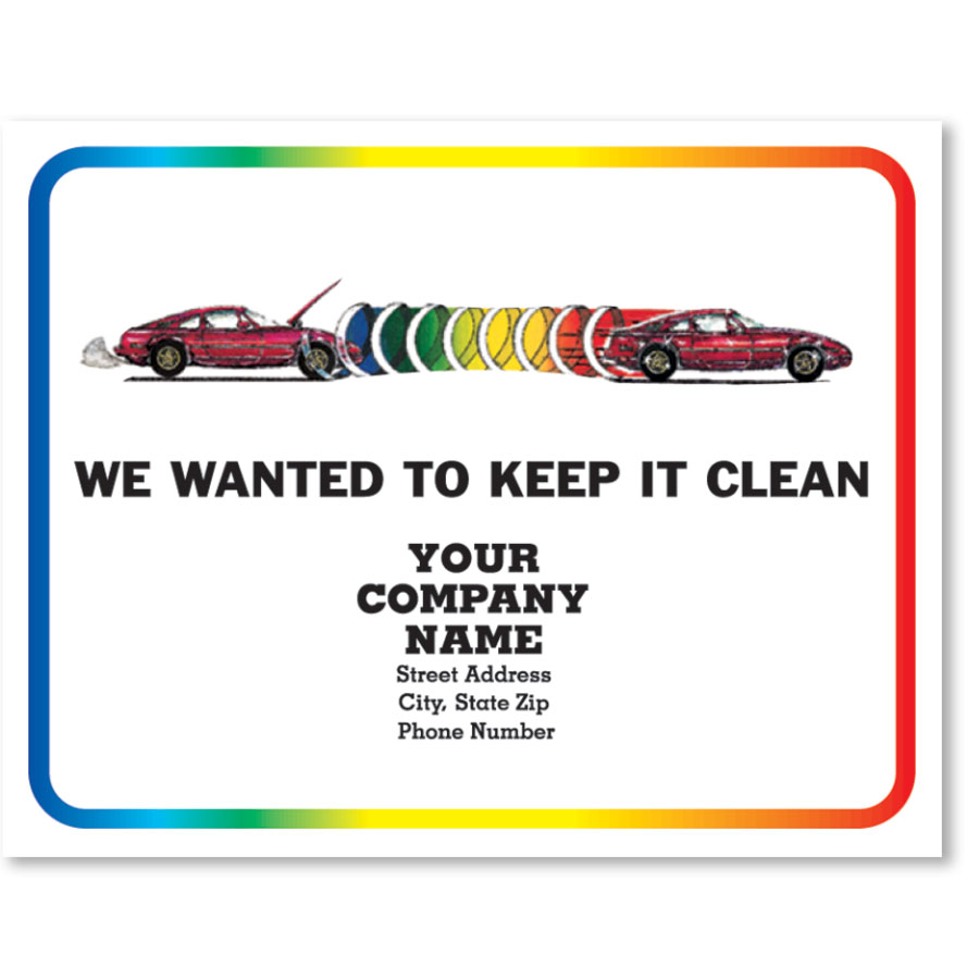 Personalized Full-Color Paper Floor Mats - Rainbow Repair