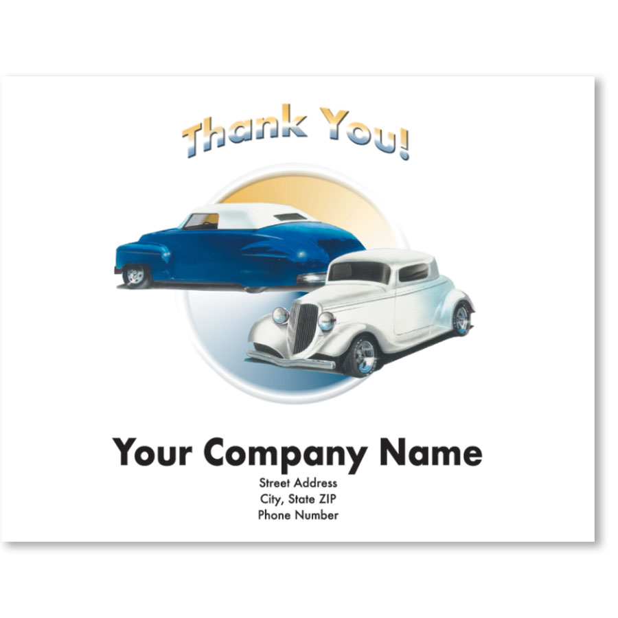 Personalized Full-Color Paper Floor Mats - Classic Cars I
