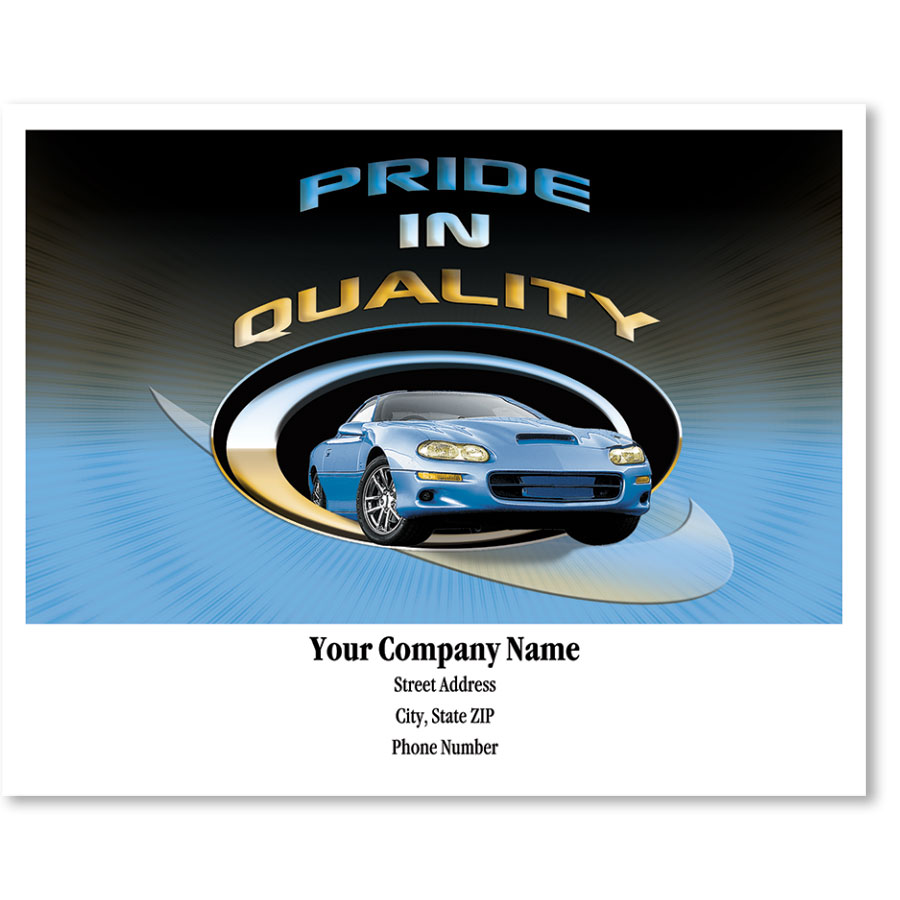 Personalized Full-Color Paper Floor Mats - Pride in Quality