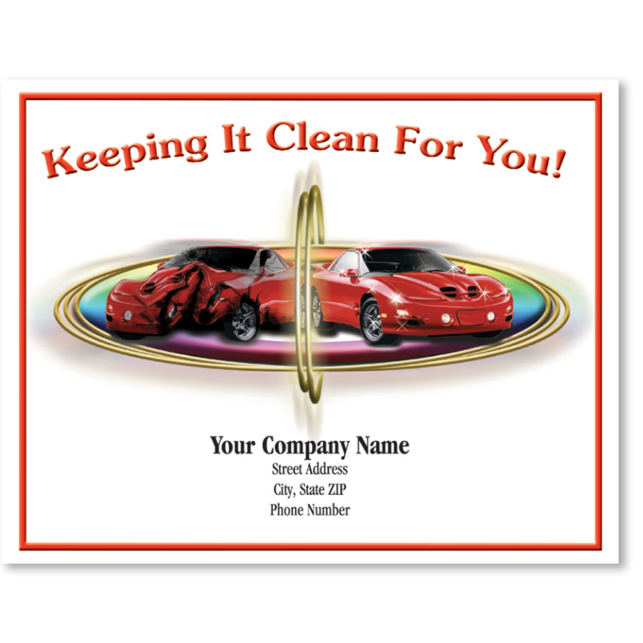 Personalized Full-Color Paper Floor Mats - Sports Car Collision
