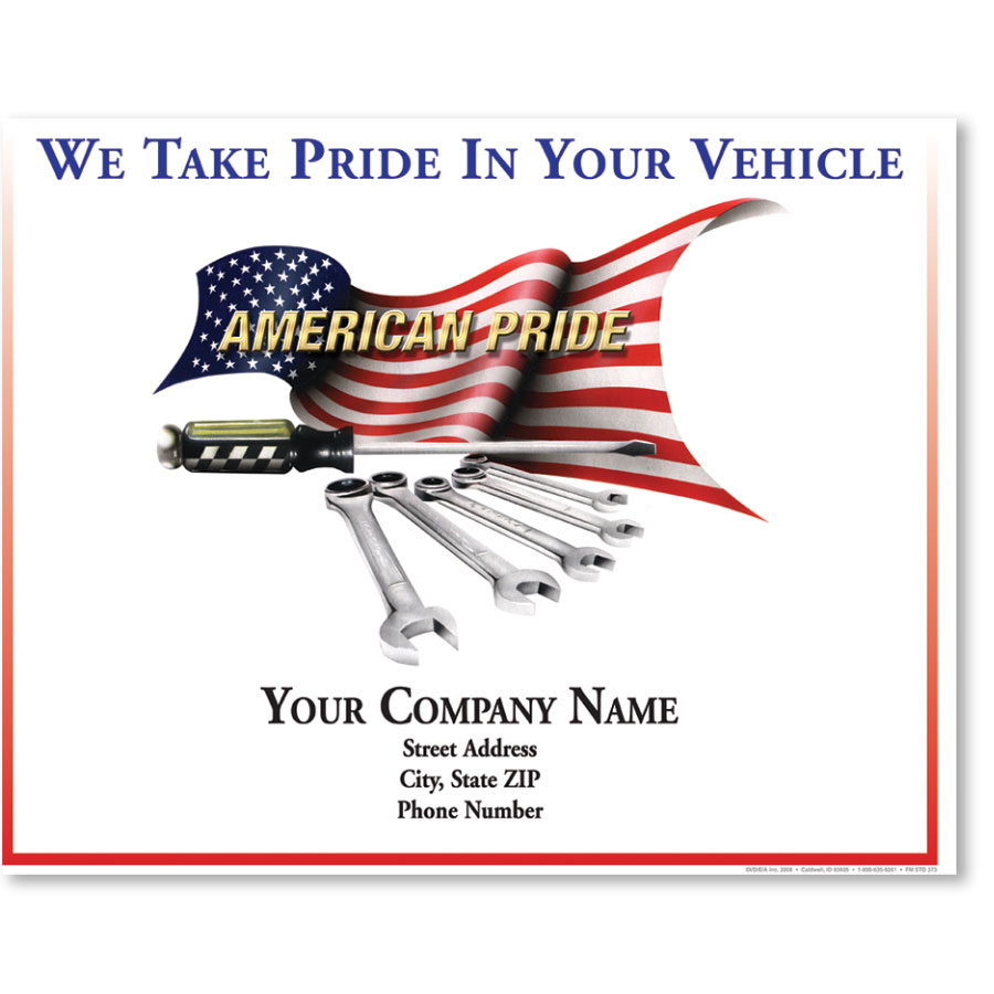 Personalized Full-Color Paper Floor Mats - American Pride