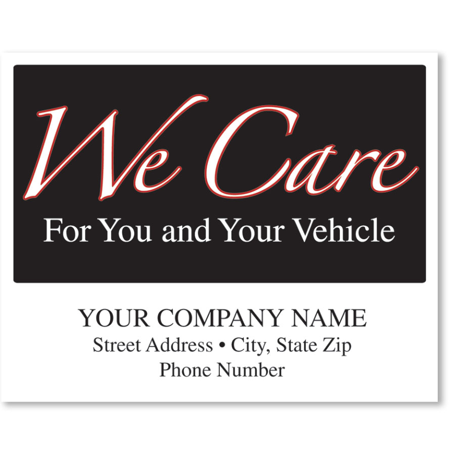 Personalized Full-Color Paper Floor Mats - We Care