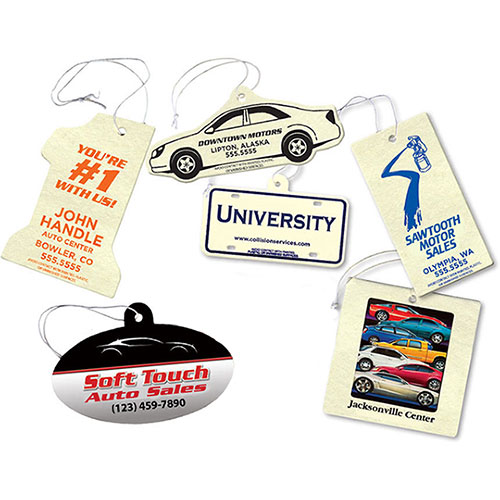 Economy Air Fresheners Full-Color - 1 Sided