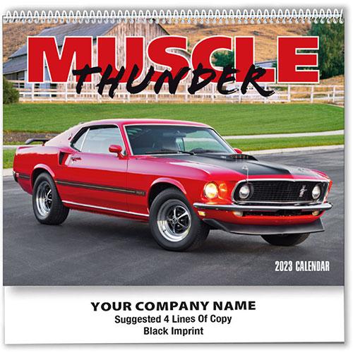 Wall Calendar Spiral - Muscle Cars