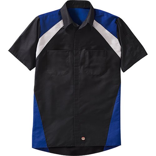 Redkap Tri-Color Work Shirt Short Sleeve