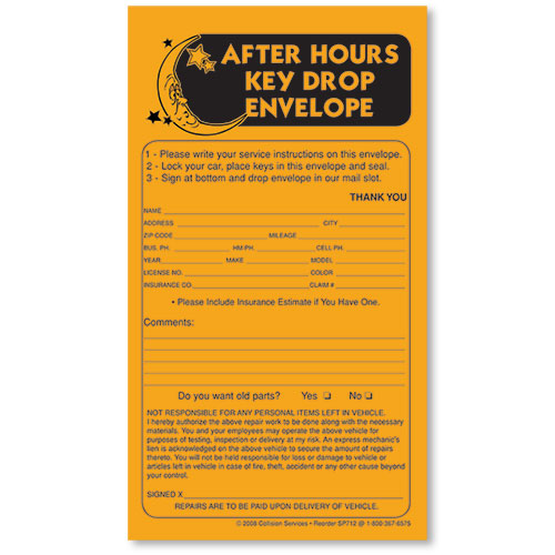 Key Drop Envelopes