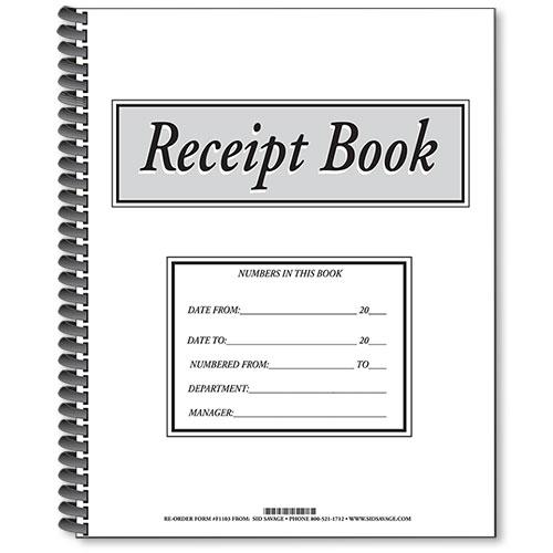 Receipt Book, Payment Received Book, Cash Receipt Book, Dealership