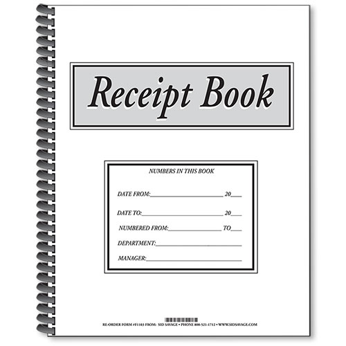 Auto Dealership Receipt Book