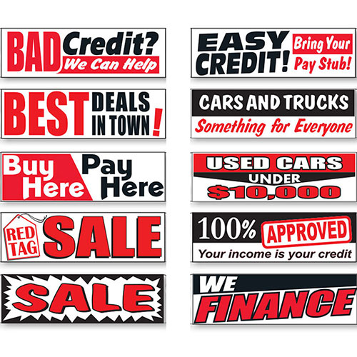 Promo Banners for Car Lots