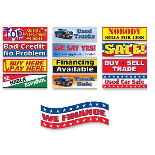 Traffic-Stopper Auto Dealer Banners