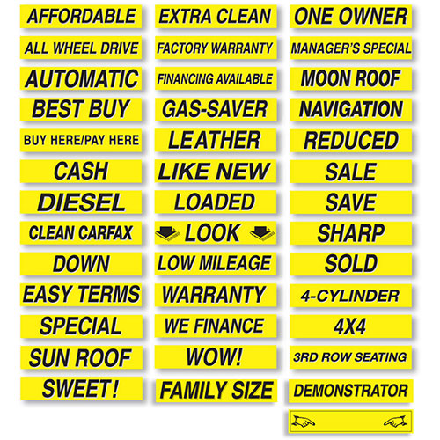 Brilliant Windshield Slogans - Black & Yellow