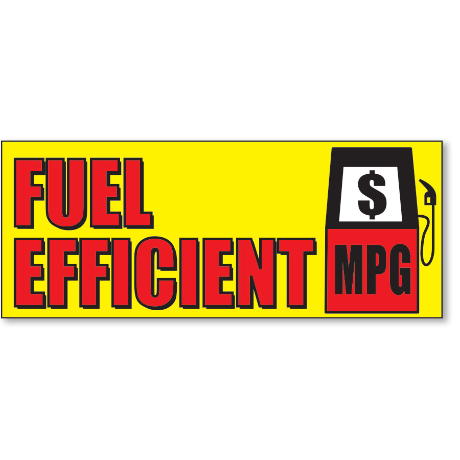 Fuel Efficient Frontline Windshield Banner